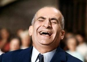 Prod DB © DR Louis DE FUNES, (Louis Germain de Funs de Galarza) acteur franais (1914-1983) rire